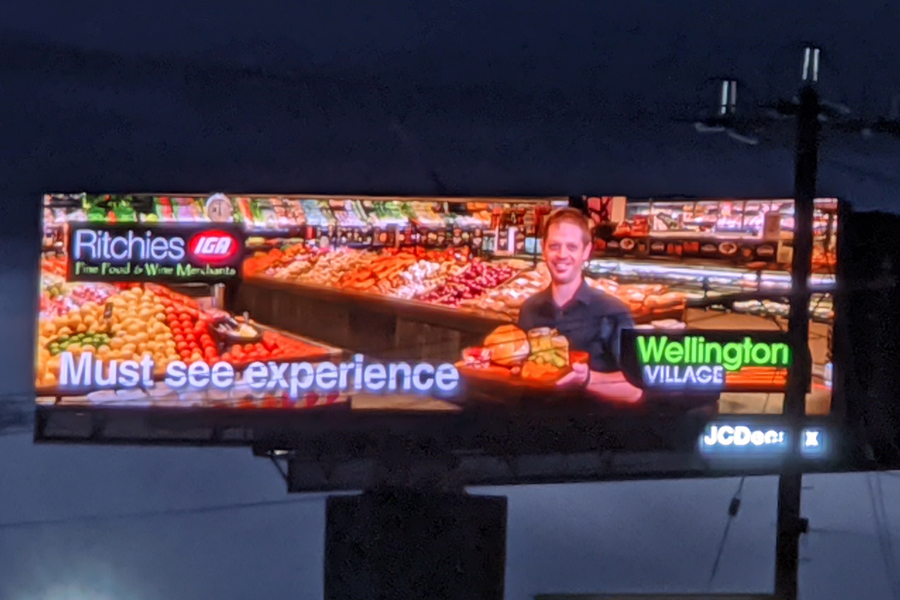 Image of Ritchies Rowville Billboard Stud Rd featuring their fresh produce