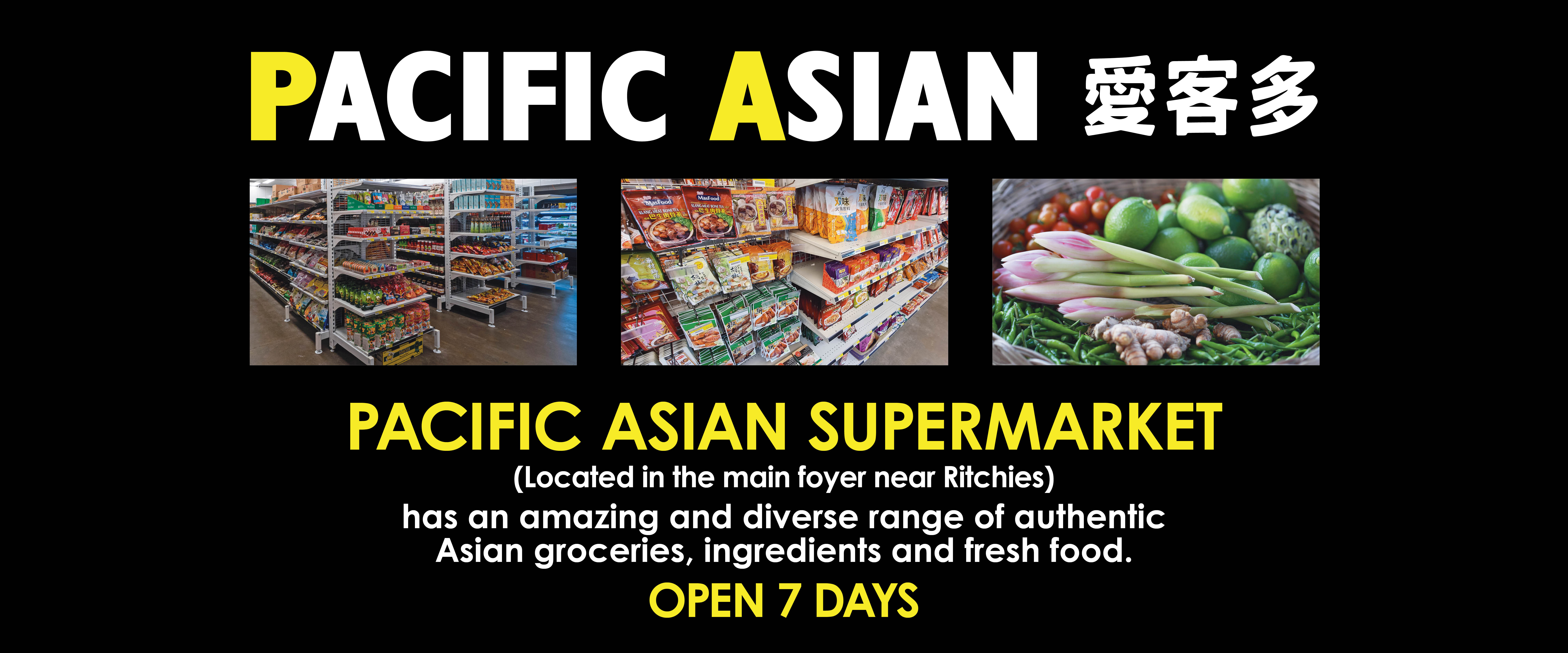 ad for Pacific Asian Supermarket